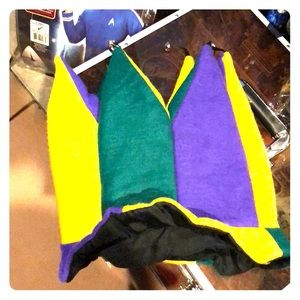 Accessories - Jester's hat with Mardi Gras colors and bells.